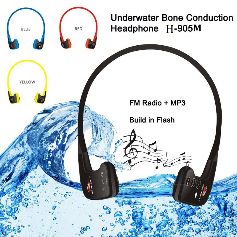Waterproof Wireless Bluetooth MP3 Player & Sports Headset with built-in 8GB memory card