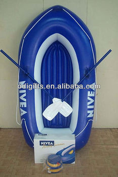 PVC inflatable promotion toy boat with oar