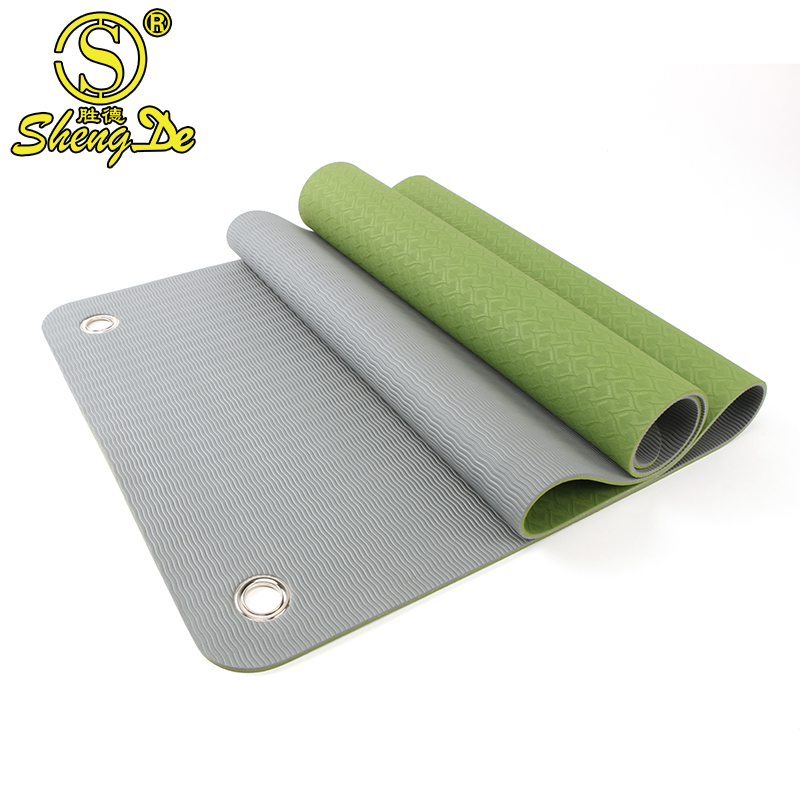 Gymnastic fitness exercise non slip yoga mats with <strong>hole</strong> to hang up
