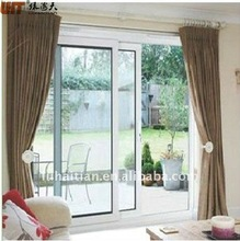 pvc glass sliding door with fiber flyscreen, sliding glass door with grill, balcony door