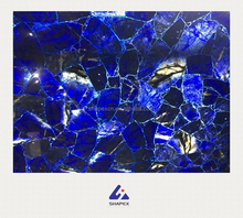 Custom cut blue onyx salb agate marble table top