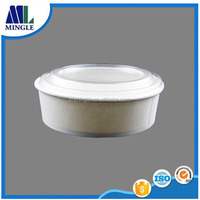 Disposable take away salad paper bowl with plastic lid for fast food