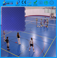 high impact and good rebound volleyball court flooring with gridded surface