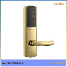 Zinc Alloy Free Software smart card door lock for hotel use