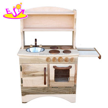 2017 New products children funny play wooden kitchen set toys W10C265