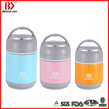 Spray Painted Vacuum Stainless Steel Thermos Food jar 1200ml