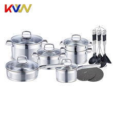 20pcs Encapsuled bottom stainless steel cookware set/cooking pot/casserole/fry pan