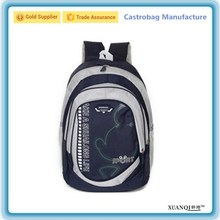 China bag supplier 600D oxford ergonomic high school backpack