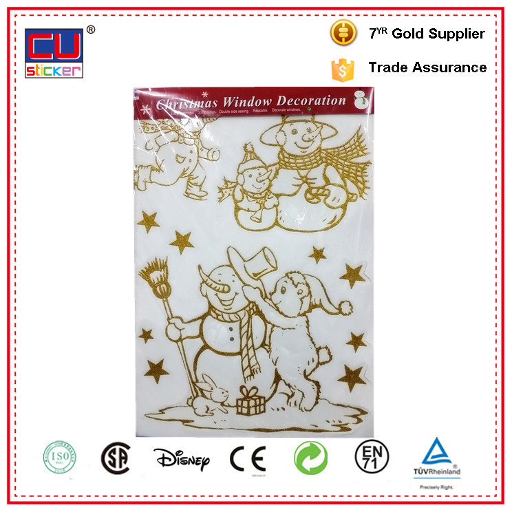 2015 holiday sticker christmas ornament no glue window sticker