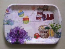 purple romantic disposable plastic food tray,new serving tray,charger plate