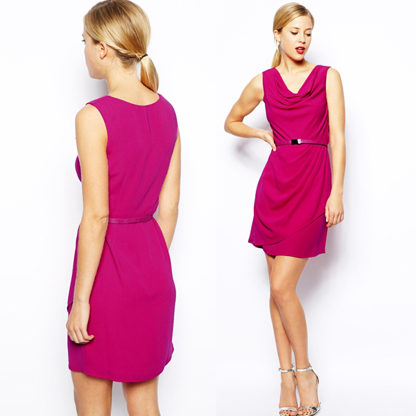 China supplier OEM fashion garment woman wear ladies smart casual dress