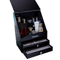 High end fashion cosmetics black acrylic storage boxes