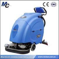 C760 hand held full-automatic electric floor scrubber for super market