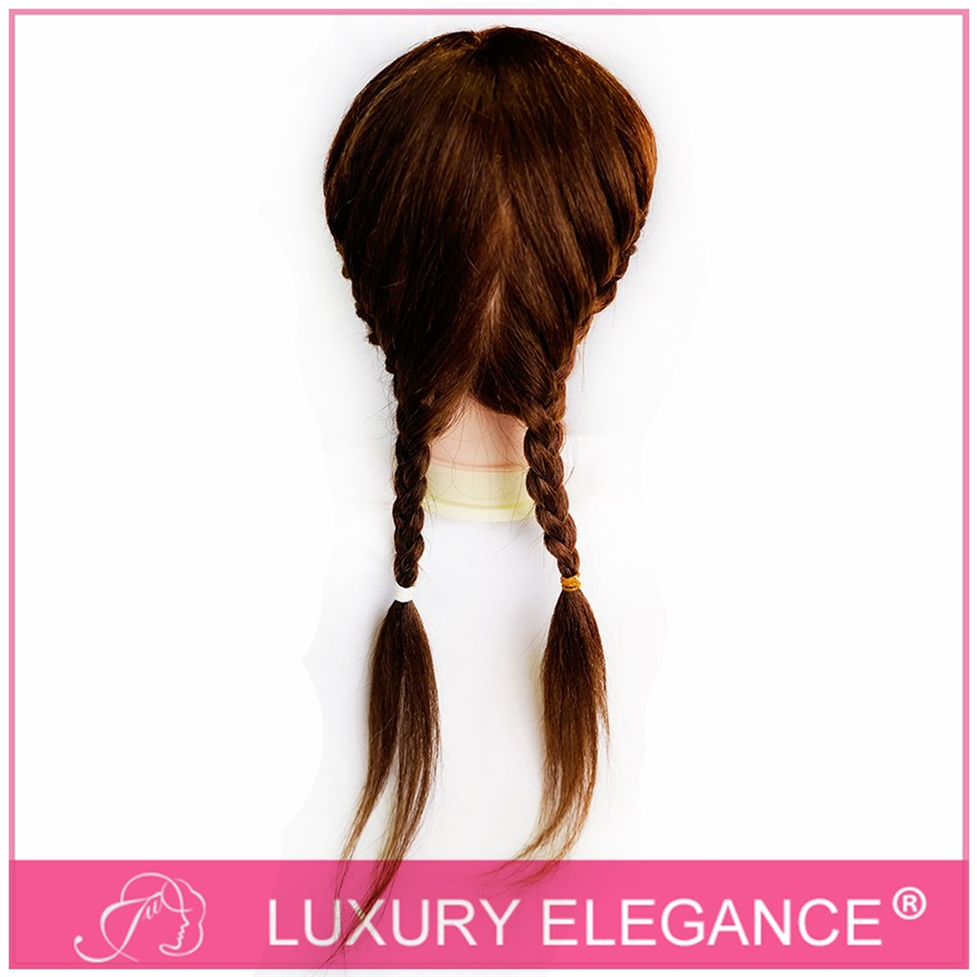 Hairdresser training head PVC mannequin head with human long hair full density