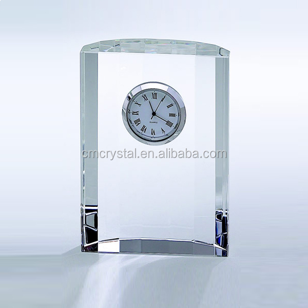 office decoration crystal table clock wholesale