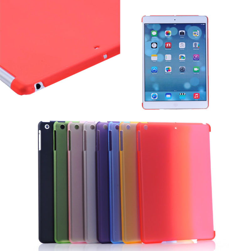 High quality Ultra thin Matte transparent PC hard skin case for iPad Air (Can together with smart cover)