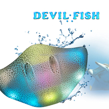 Senior Devil Ravys Fish Touch Bluetooth Speaker Wireless Stereo Music Sound Player Support TF with LED Change Color Lights