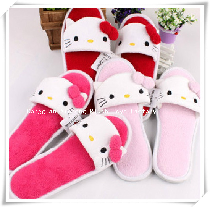 cute plush hello kitty shoes