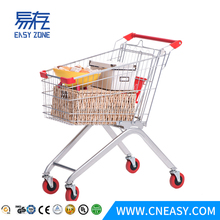 Europe style foldable wholesale folding supermarket shopping car trolleys
