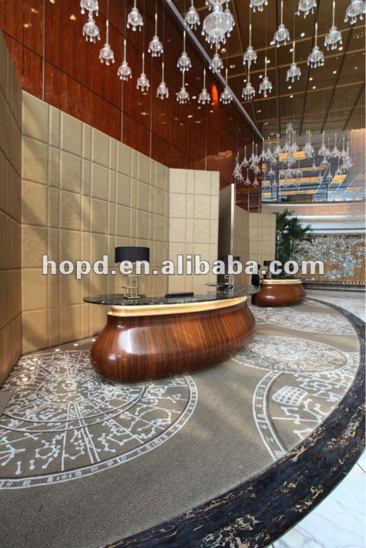 Traditional pattern wool hand tufted carpet for hotel reception center