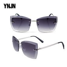 YNJN irregular high end personality fashionable sunglasses for women