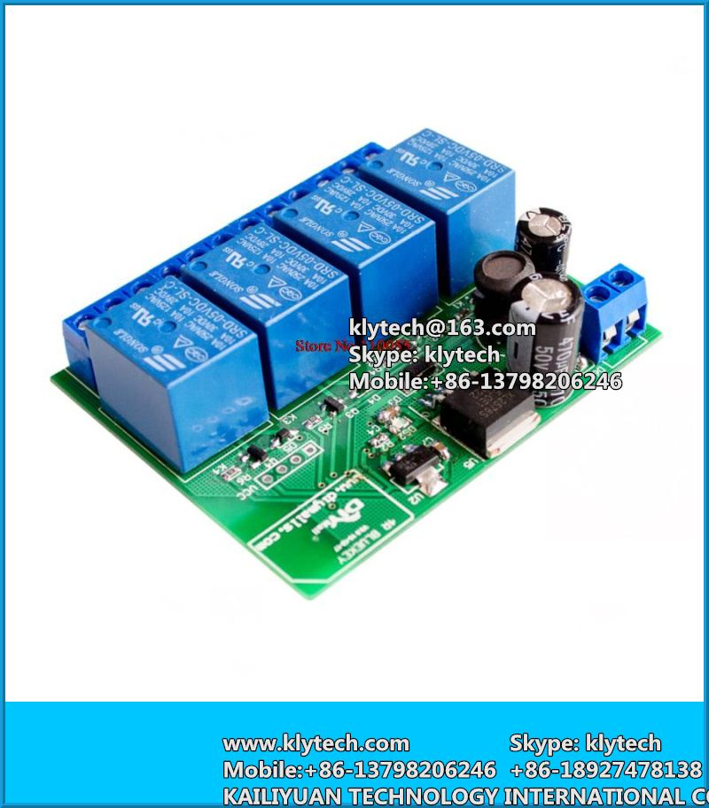 4 Channel Relay Module Bluetooth 4.0 BLE for Apple Android Phone IOT