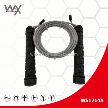 NANTONG WAX SPORTS Steel Wire Jump rope With Heavy Handle,skipping rope