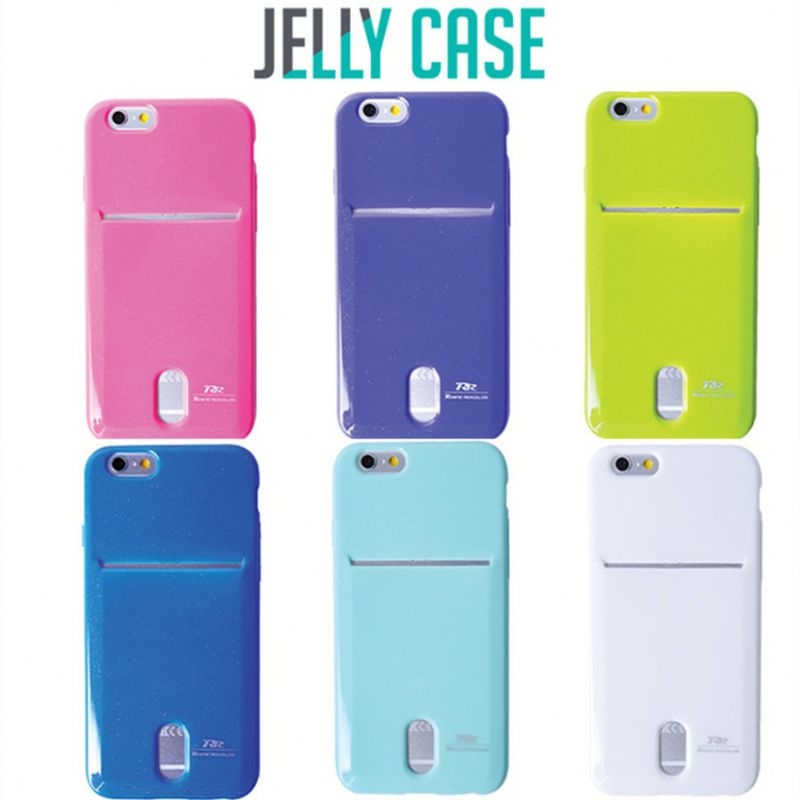 Korea Mobile Phone Accessories Card Pocket Jelly Case For Iphone 6,Roarkorea Card Pocket Tpu Case