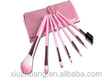 High quality 7PCS Pink Makeup Brushes Cosmetic Set Eyeshadow Brush Tools Make Up Brushes
