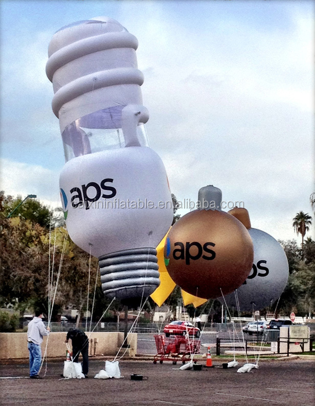 Inflatable bulb/balloon/model/replica/white/3M/for advertising