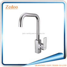 ZD-12520 Durable deck mounted polished brass ceramic cartridge single handle hot and cold water kitchen sink faucet