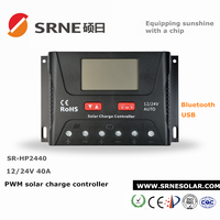 gel/lead acid/ lithium battery use 30a 40a 50a 60a 12v 24v good quality pwm solar charge controller manufacturer