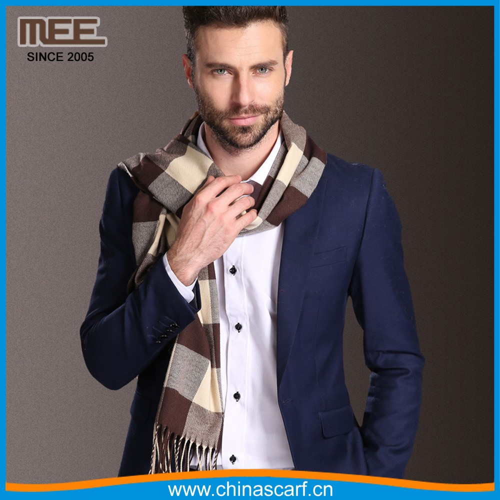 winter tassels long men stripe scarf factory