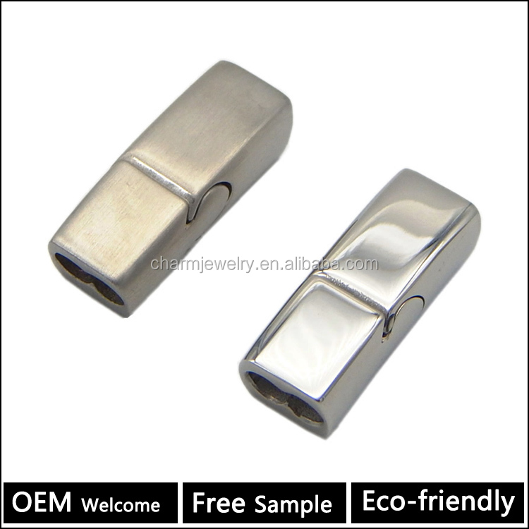 Top Quality Stainless Steel Jewelry Findings Leather Bracelet Making Clasps BX170