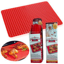 non-stick pyramid pan healthy chef bbq custom silicone baking mat