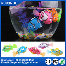 safe electric free swimming fish TPR soft toy gold fishes mini plastic funny fish toy