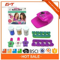 ICTI proved nail makeup set kids diy play makeup toy sets for sale