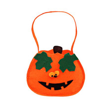 felt Halloween Candy Goody Bag Basket Bucket Treat or Trick Hand Bag Festival Party Bags