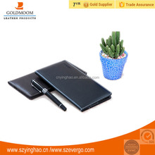 PU leather material PU leather cheque book , leather cheque book cover
