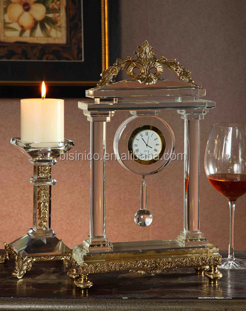 Classical Brass with Crystal Candy Jar, Royal Bronze Crystal Home Decorative Candy Can (BF01-0216)