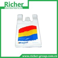 Cute design raw materials of different plastic t-shirt bags for bread packaging use