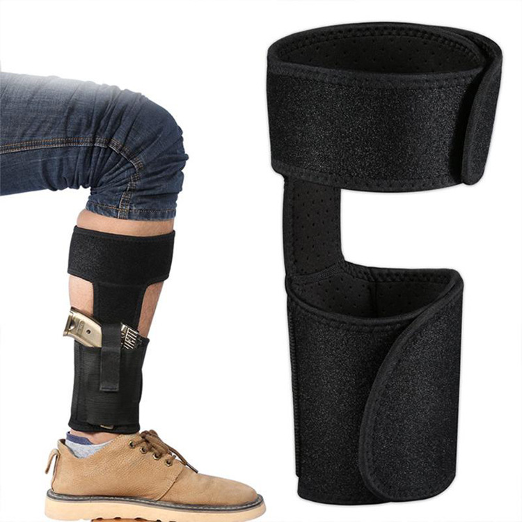 High Quality New Style Neoprene Ankle Belt Gun Holster for Concealed Carry with Elastic Pouch