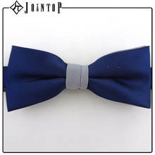 Wholesaler high quality blue gift satin ribbon bow tie