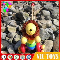 2014 New wooden pull along toy for kids,popular wooden push along toy for children,hot sale hand pull toy for baby VC-A056