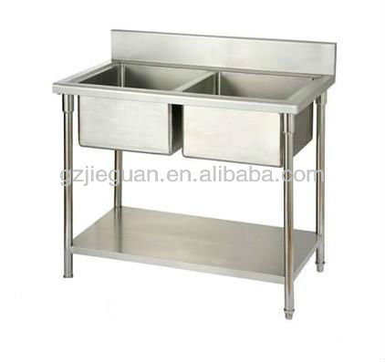 restaurant and hotel kitchen sinks stainless steel 2 bowl sink ST-1600