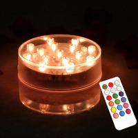 4 Inch LED Plate Light with Remote control / Multi-color Remote controlled LED under vase light