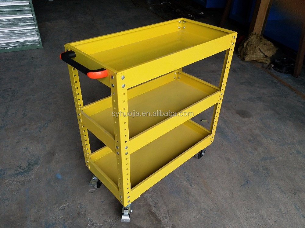 3 layers garage storage sets tools cart steel tool trolley used tools