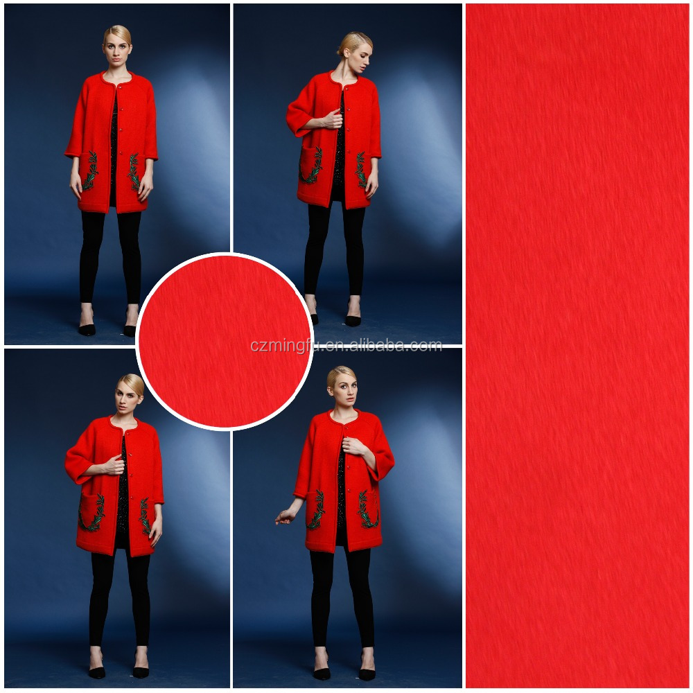 Wholesale 2015 hot designer wool coat woven wool fabric for winter overcoat