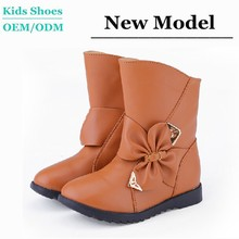 Most Popular Brown Children Boots Rubber Sole Genuine Leather Handsome Motocross Boots