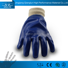 Cheap pvc coated chemical and oil proof hand working gloves UK
